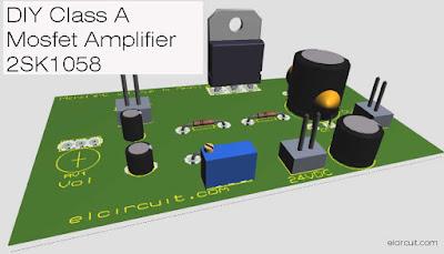2SK1058 Class A Power Amplifier Circuit