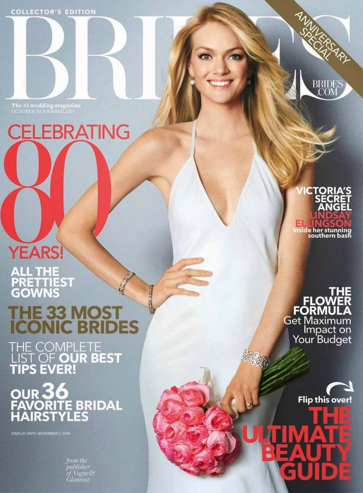 Lindsay Ellingson - Brides Magazine, USA, October 2014
