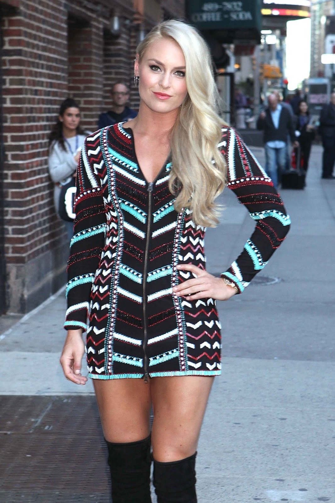 Lindsey Vonn Arrives at The Late Show With Stephen Colbert