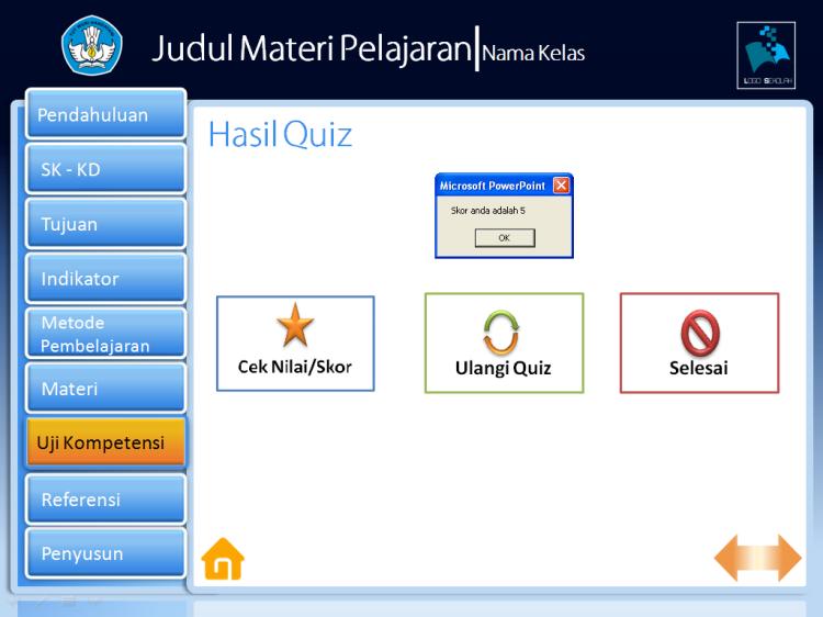 Contoh Quiz dengan PowerPoint