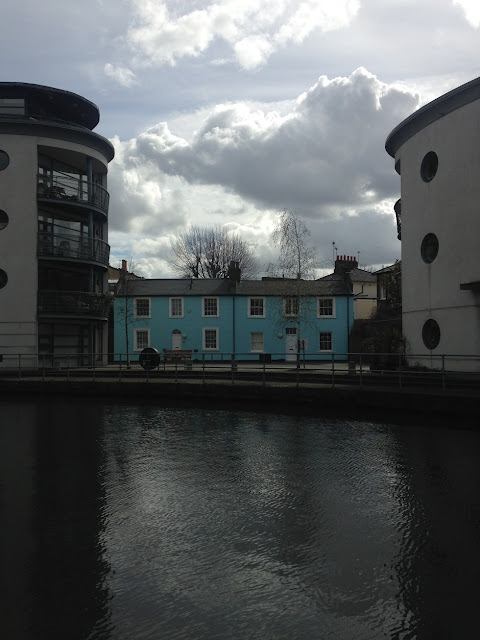 The old and the new, Regent's Canal, near Camden, London NW1