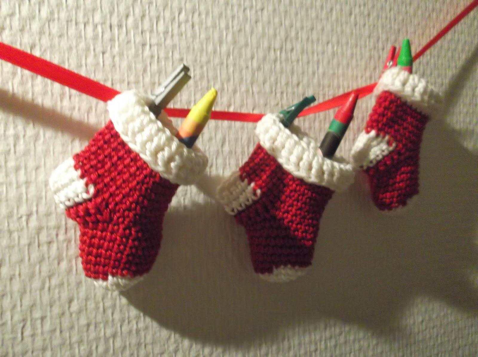 Haakydee Gehaakte Mini Kerstsokjes