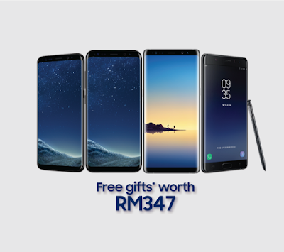 customers who purchase a flagship smartphone (Galaxy note8, FE, S8, S8+ and A8+) at Pavilion Store will be entitled to gifts worth up to RM347 (one side screen protector worth RM99, Bluetooth headset worth RM99 and a Smart Screen Protection Plan worth RM149)
