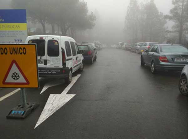 El Cabildo de Gran canaria evacua y cierra la cumbre por peligrosidad
