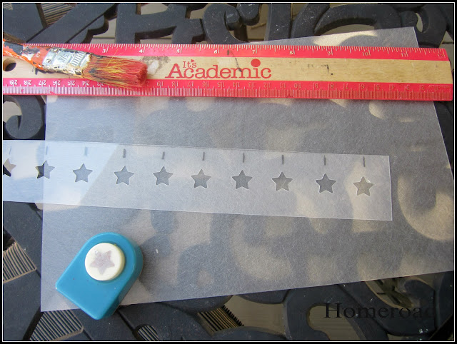 star stencils for an american flag