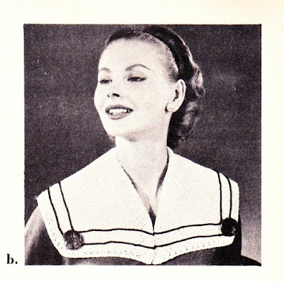 The Vintage Pattern Files: Free 1950's Crochet Pattern - Sailor Collar