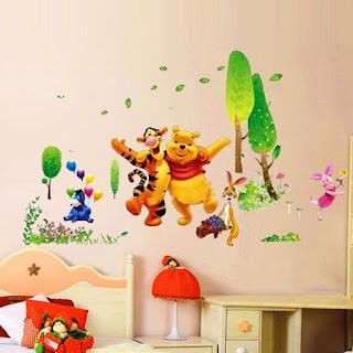 Gambar Wallpaper Dinding Winnie the Pooh Terbaru dan Lucu 200164