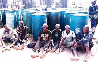 Foreign Vandals Caught Vandalizing NNPC Pipilines In Lagos