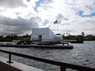 Picture of the Pearl Harbor Memorial in Oahu