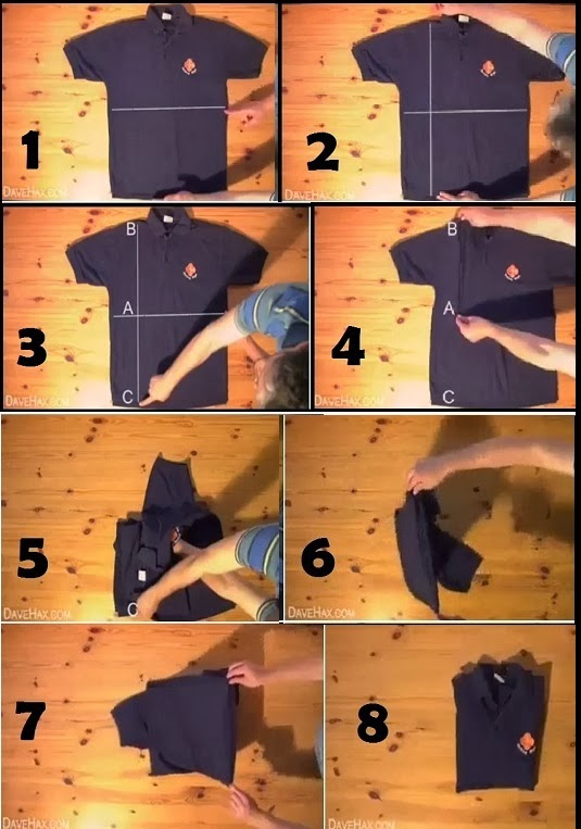 How To Fold A Shirt In 2 Seconds Useful Information