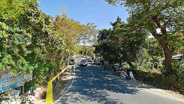 The Ligaya (or Lagaya) road in Talisay which leads up to Tagaytay.  Image source:  Google Earth Street View.
