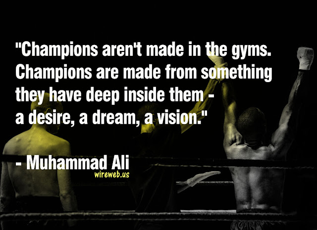Champions Are Made From Something