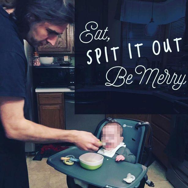Steven Pladl sedang menyuapi bayi dari rahim anak kandungnya