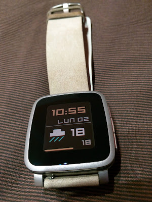 Pebble Time Steel (correa de piel de serie Pebble)