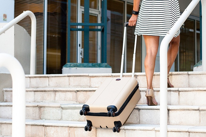 TraxPack Luggage: World's First Stair Climbing Suitcase.