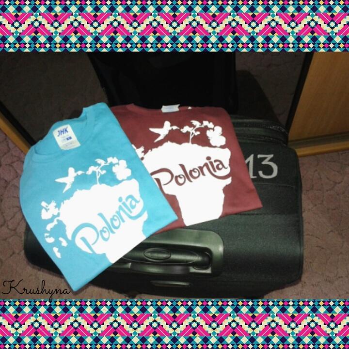 koszulka, koszulki, walizka, koszulka Polonia, t-shirt, t-shirty, Ameryka Południowa, kształt Ameryki Południowej, South America Shape, Paraguay 2016, Paragwaj 2016