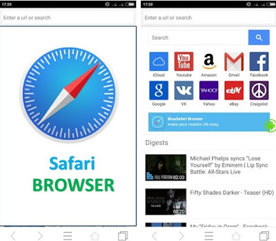 setting desktop site of safari browser in android