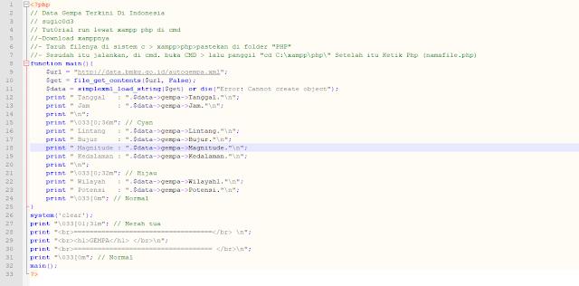 Cara Membuat Website Info Gempa 2