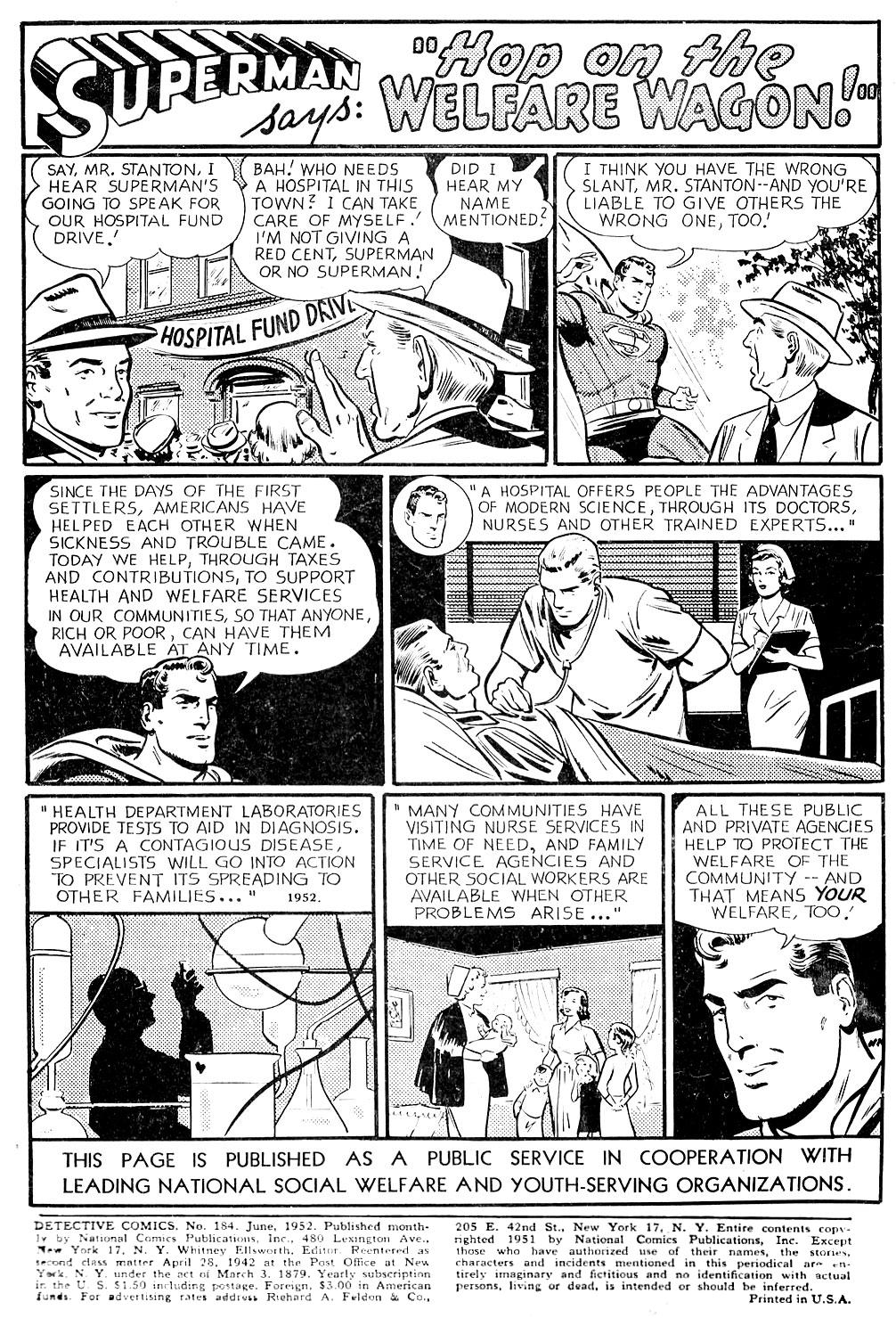 Read online Detective Comics (1937) comic -  Issue #184 - 2