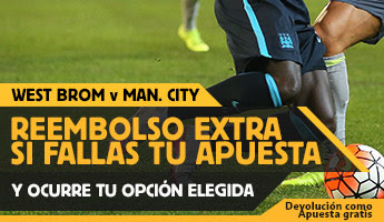 betfair reembolso 25 euros Premier League West Brom vs Manchester City 10 agosto