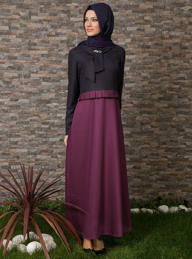 Trendy Hijab Fashion 2013 Winter Dress Models For Muslim