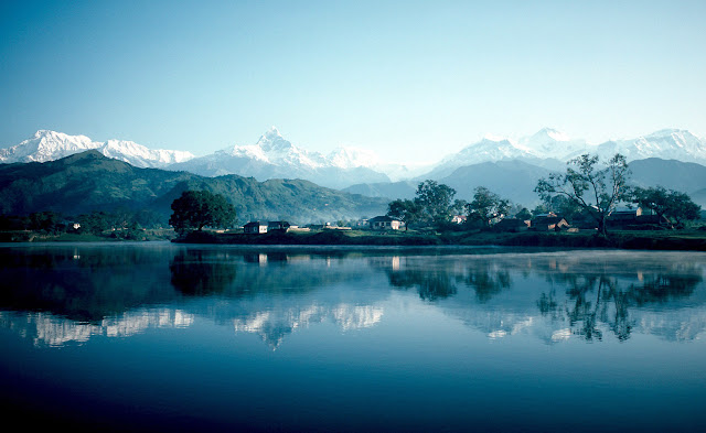 Annapurna at Lake Pokhra