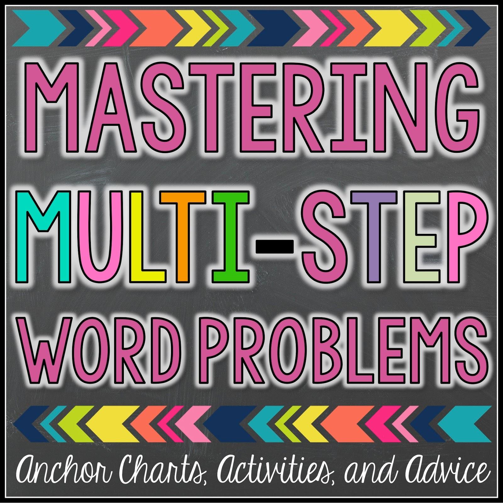 mastering multi step word problems [ 1600 x 1600 Pixel ]