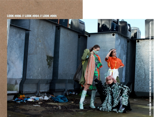 Backstage beelden lookbook foto's en editorial resultaten van wasteless fashion collectie by designer Fayette van Dijck