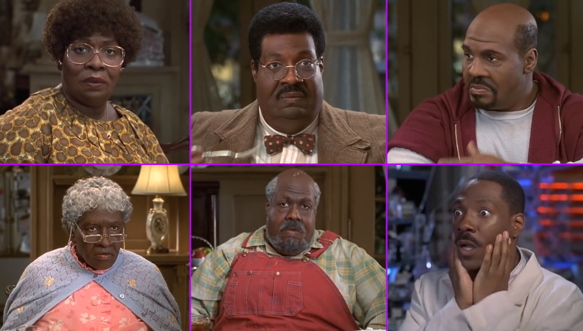 c8d7878ef01 Eddie Murphy - The Nutty Professor (Eddie Murphy may take the cake since he plays  multiple roles in many of his movies.)