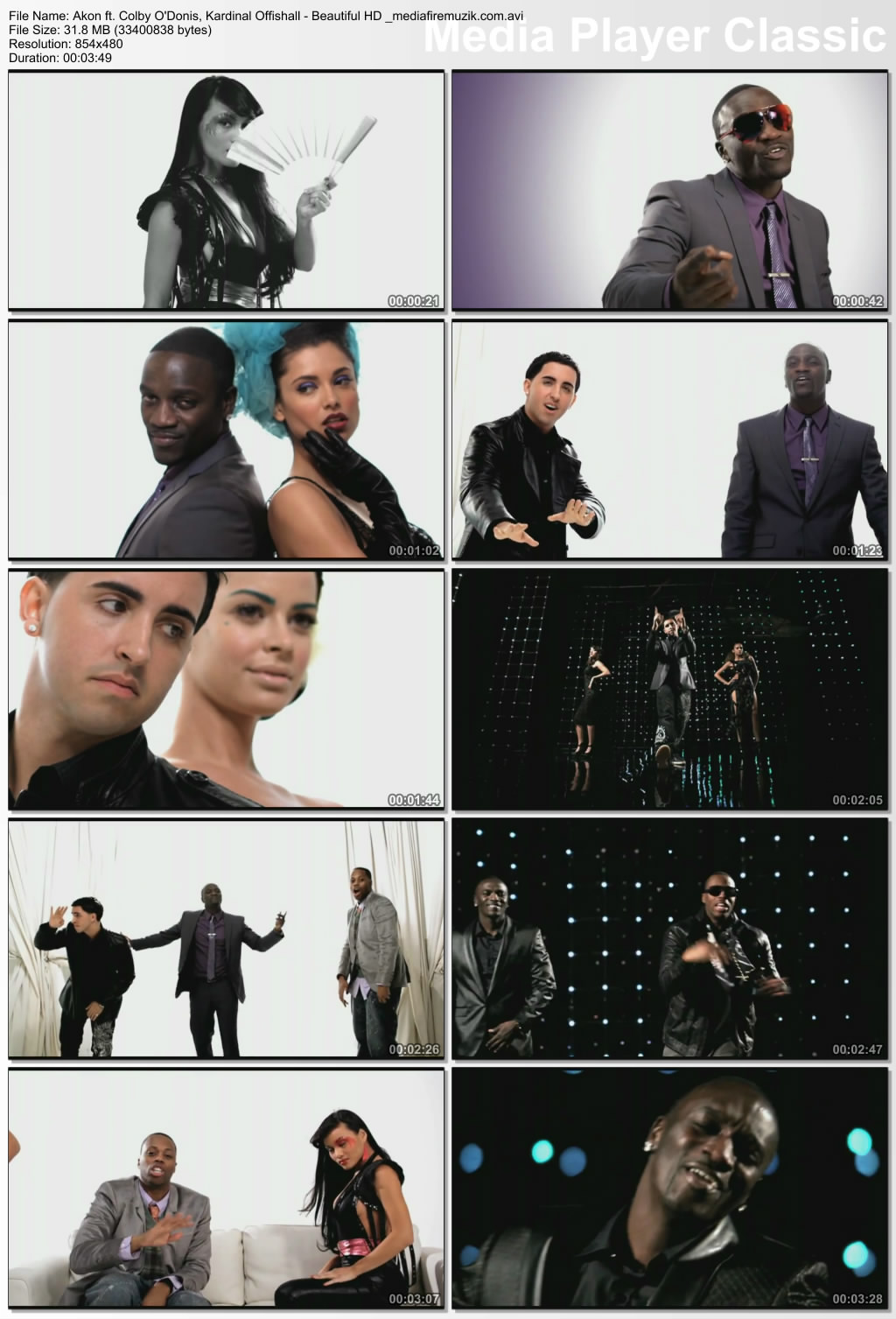 akon beautiful hd video song download
