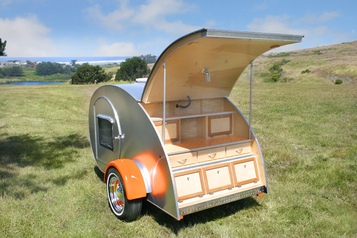 Tiny Yellow Teardrop: Rent a Teardrop Trailer