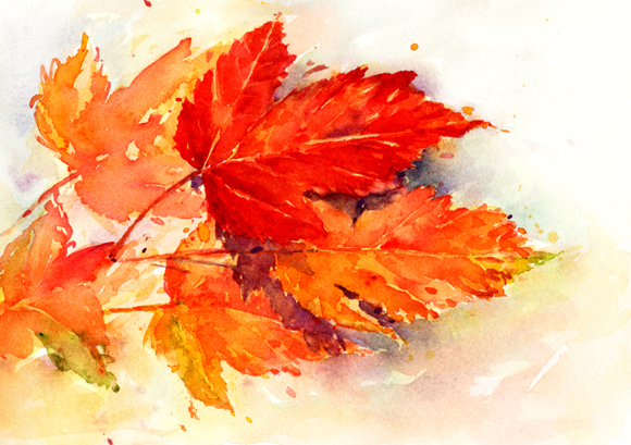 Autumn Leaves Painting by Sherry Schmidt