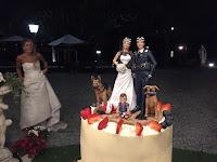 cake topper speciali su commissione realizzati a mano sposini cani orme magiche