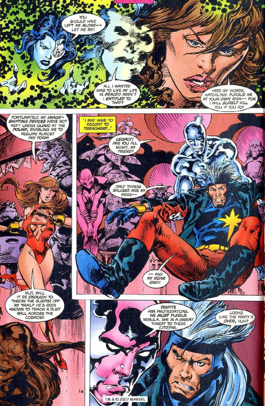 Read online Silver Surfer (1987) comic -  Issue #110 - 16