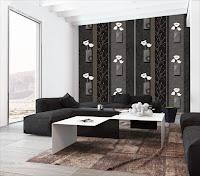 Những mẫu giấy dán tường phòng khách màu đen huyền bí và sang trọng