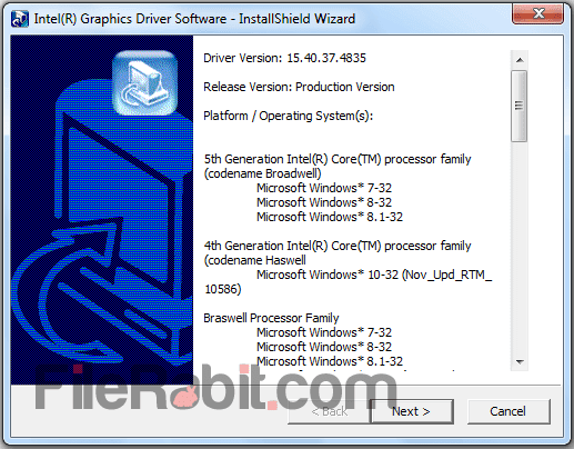 download intel graphics driver for windows 7 32 bit