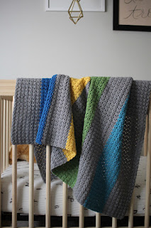 Baby Love Collection of baby blanket crochet patterns by Little Monkeys Design - Jewel Tones crochet baby blanket pattern