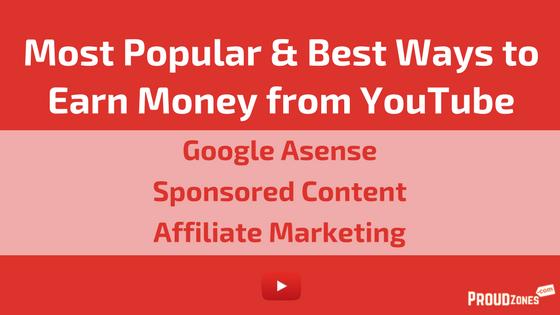 popular ways to earn money on YouTube