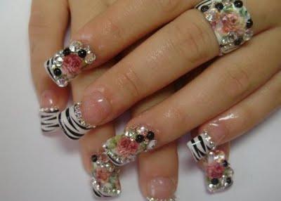 nail art design 2014 nail art rhinestones