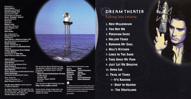 DREAM THEATER - Falling Into Infinity [Remastered Ltd SHM-CD] booklet