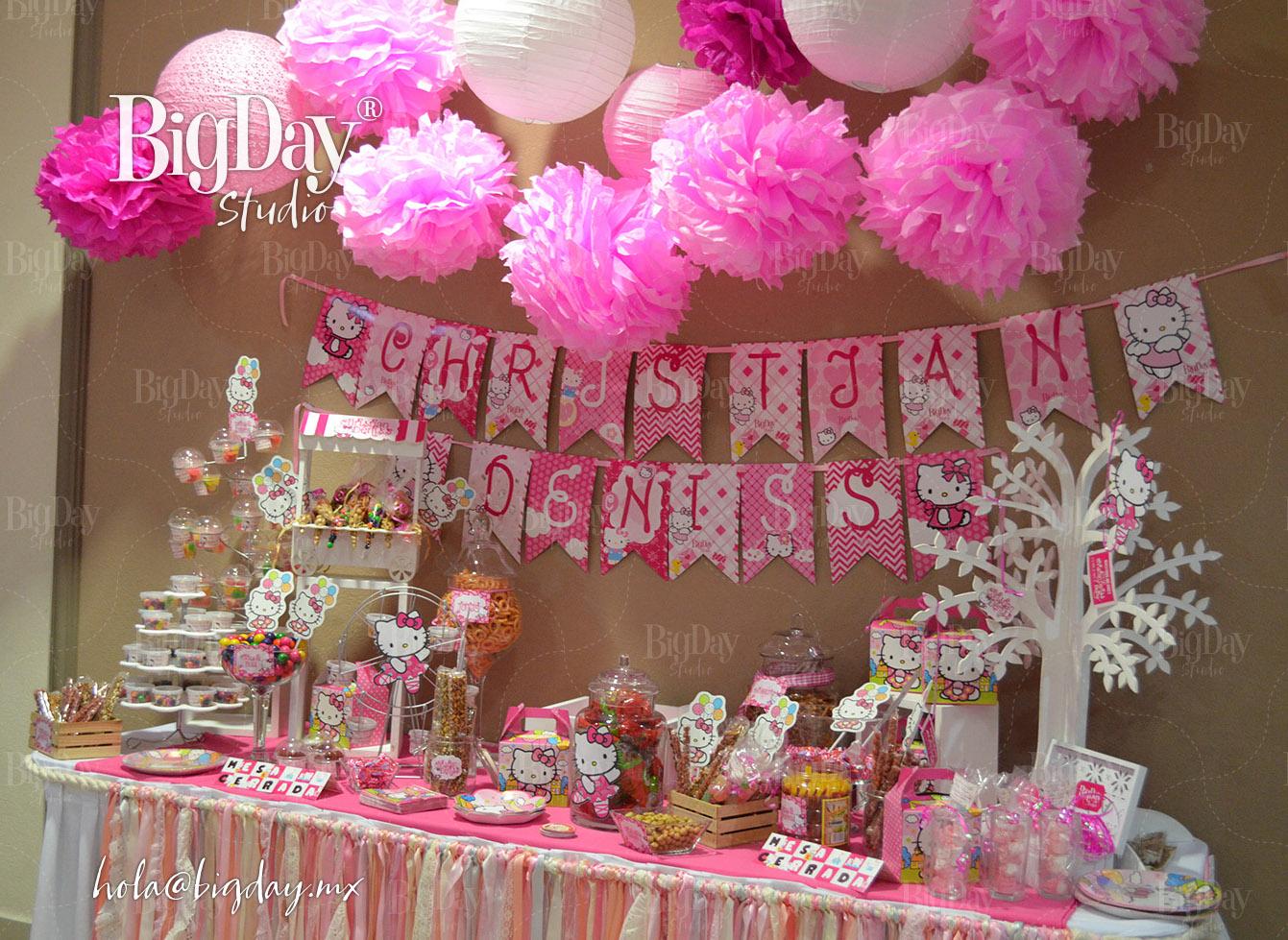 19 mesas de dulces de color rosa for Como decorar mesa de postres para baby shower
