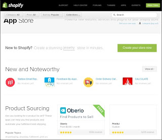 choose shopify app in shopify app store for your online store