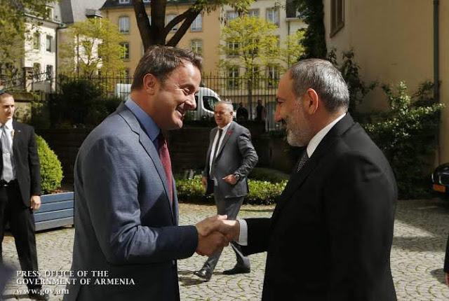 Pashinyan se encuentra con su homólogo de Luxemburgo