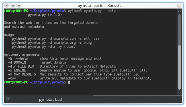 Pymeta - Search The Web For Files On A Domain To Download