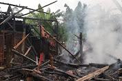 Rumah Warga di Sumberwaras Hangus Terbakar