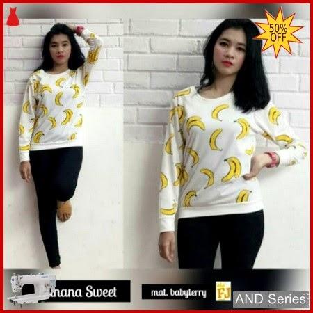 AND089 Baju Atasan Wanita Kaos Atasan Banana BMGShop