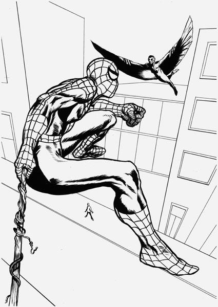 Marvel made in italy fan art spider man di sergio vanello for Disegno di spiderman da colorare