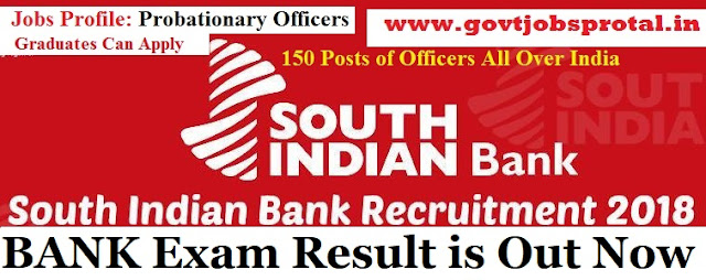 south Indian bank po exam result 2018