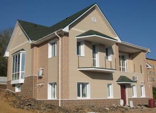 Навесной вентилируемый фасад из фиброцемента для частного дом