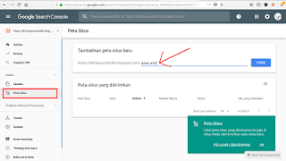 submit sitemap ke search console